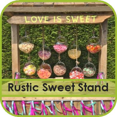 Rustic Sweet Stand