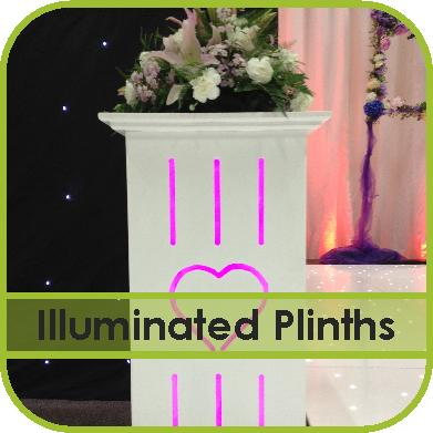Illuminated Plinth Hire