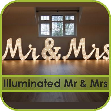 Illuminated Mr and Mrs Sign