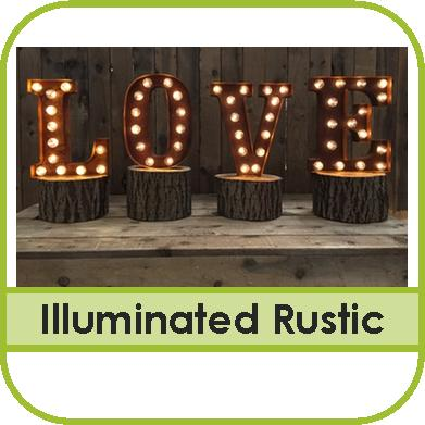 Illuminated Rustic Letter Hire