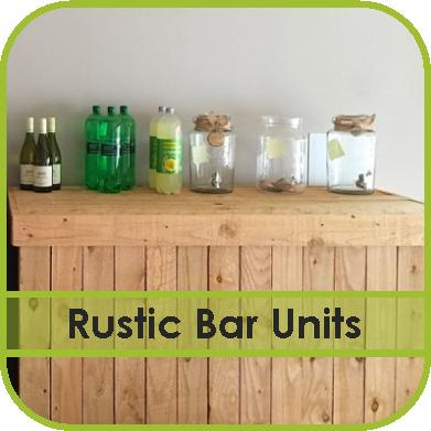 Rustic Wooden Bar Unit Hire