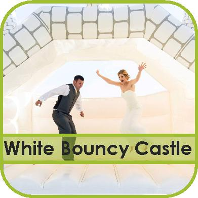 White Wedding Bouncy Castle Hire