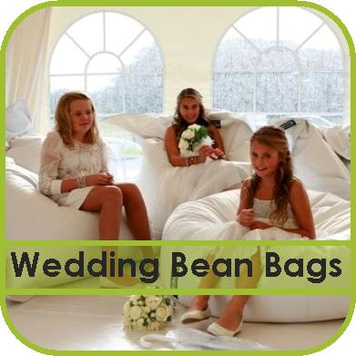 White Wedding Bean Bags