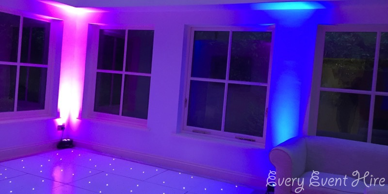 Pink and Blue Party Lighting