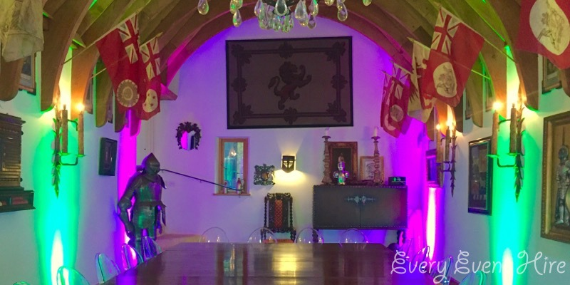 Green and Purple Party Lighting Gloucestershire