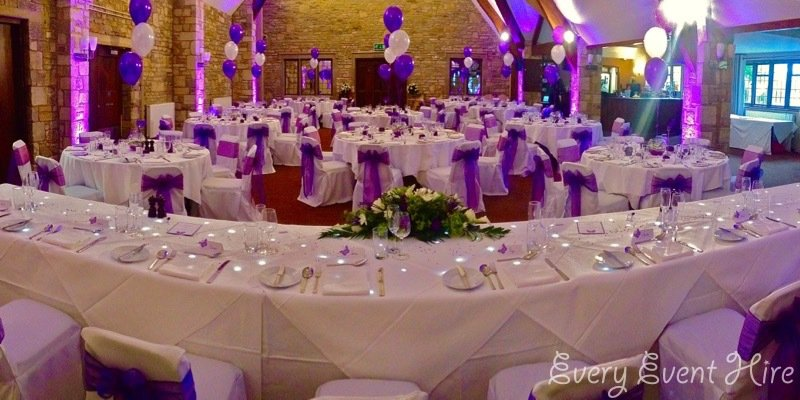 Purple Wedding Lighting Gloucestershire