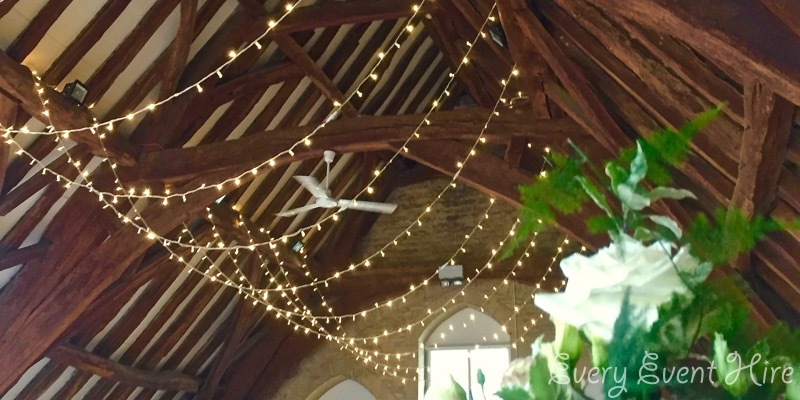 Bishops Cleeve Tithe Barn Fairy Lighting