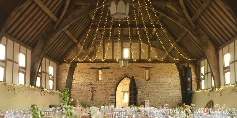 Brockworth Priors Tithe Barn Fairy Lighting