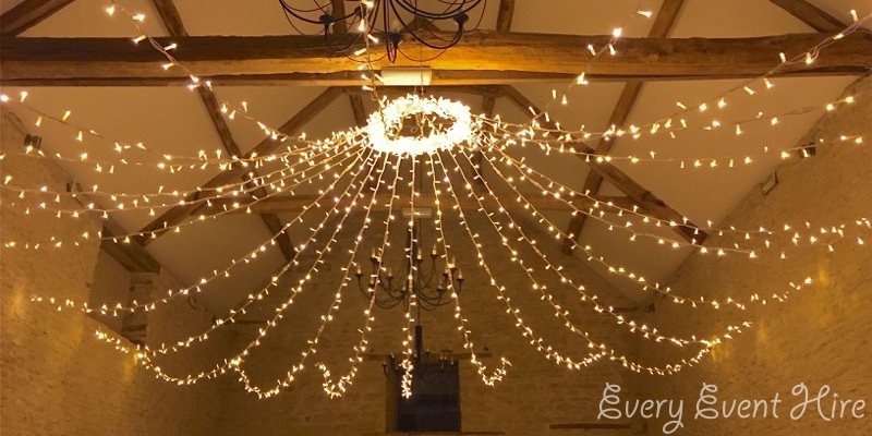 Kingscote Barn Fairy Light Canopy