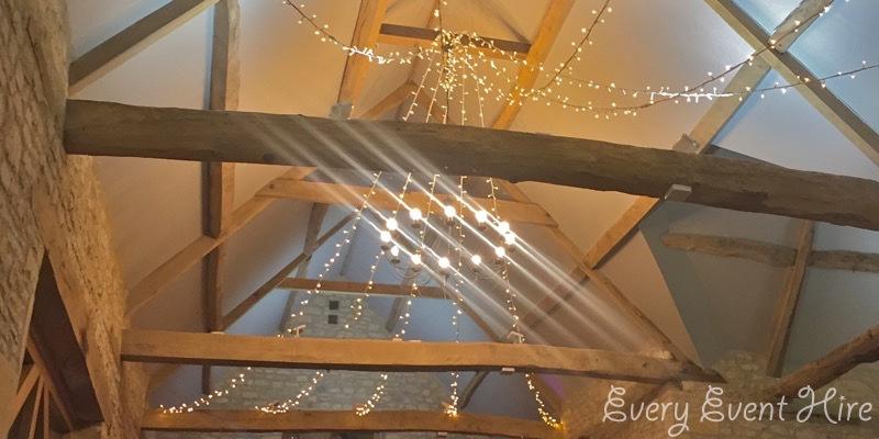 The Barn at Upcote Fairy Light Canopy