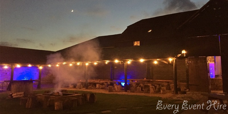 Festoon Lighting at Over Barn Gloucester