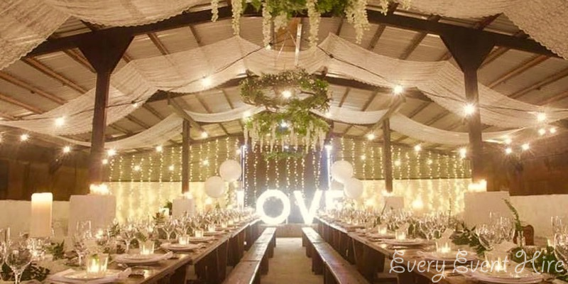 Festoon Lighting in Cheltenham Barn