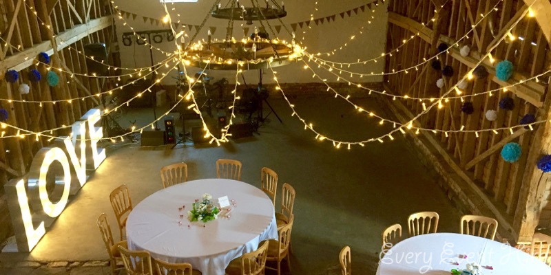 Illuminated LOVE Letters at Over Barn