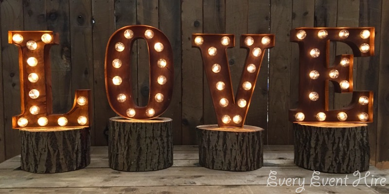 Rustic Illuminated LOVE Letters