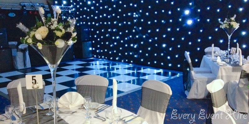 Black Starlit Backdrop Hire Gloucestershire