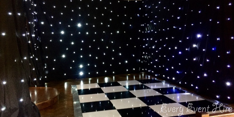 Starlit Black Backdrop Hire Gloucester