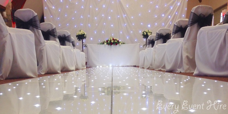 White Wedding Starlit Backdrop Hire Gloucestershire