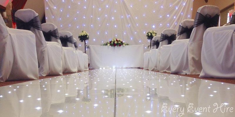 White Wedding Starlit Backdrop Hire Gloucestershire