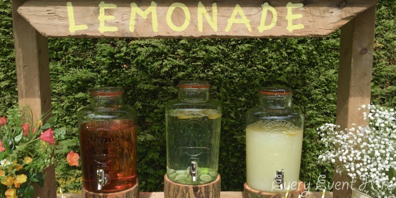 Rustic Lemonade and Cordial Stand