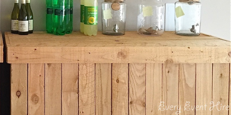 Rustic Wooden Bar Hire Gloucestershire