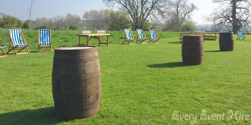 Elmore Court Wedding Barrel Tables