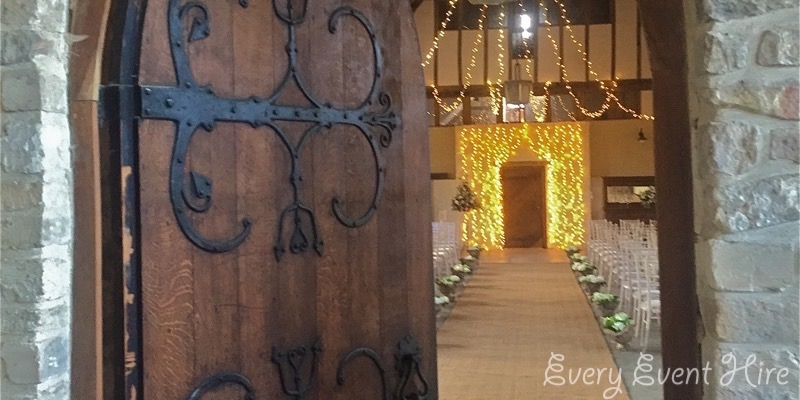 Brockworth Barn Rustic Wedding Aisle