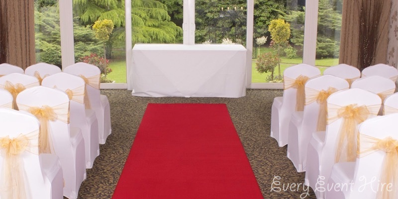 Red Wedding Aisle Carpet Hire