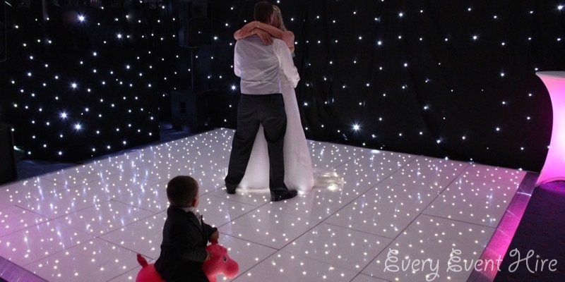Gloucestershire White Starlit Dance Floor Hire