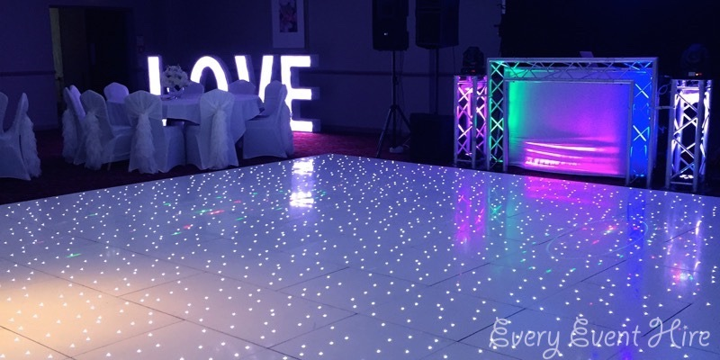 White Starlit Dance Floor Hire Gloucester