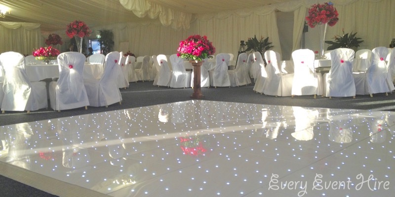 White Starlit Dance Floor Hire Gloucestershire