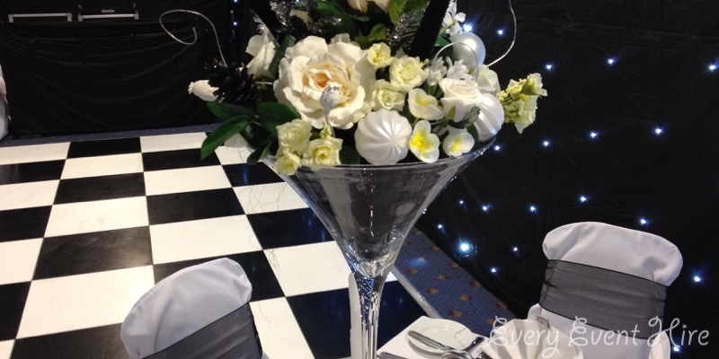 Black and White Dance Floor Hire Gloucestershire