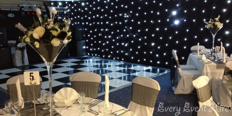 Gloucestershire Black and White Dance Floor Hire