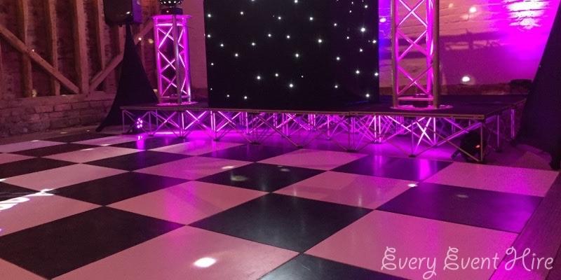 Over Barn Black and White Dance Floor