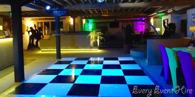 Black and White Chequered Dance Floor Egypt Mill