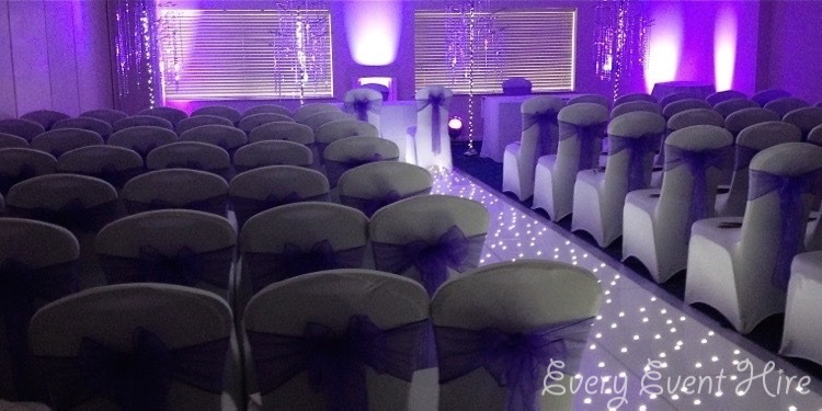 White Wedding Starlit Aisle Gloucesterhire