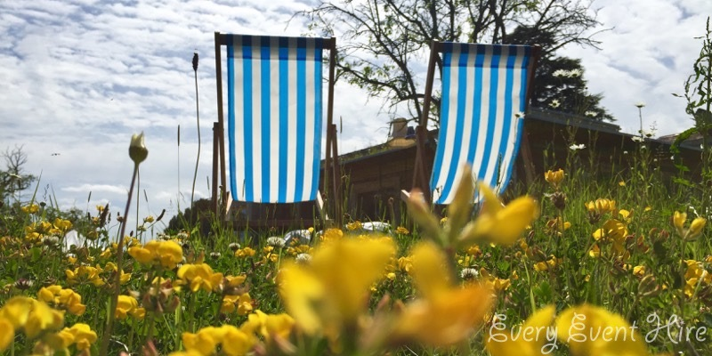 Deckchairs and Flowers Gloucestershire