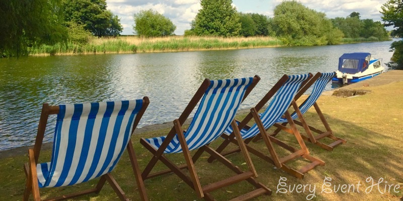 Deckchairs by River