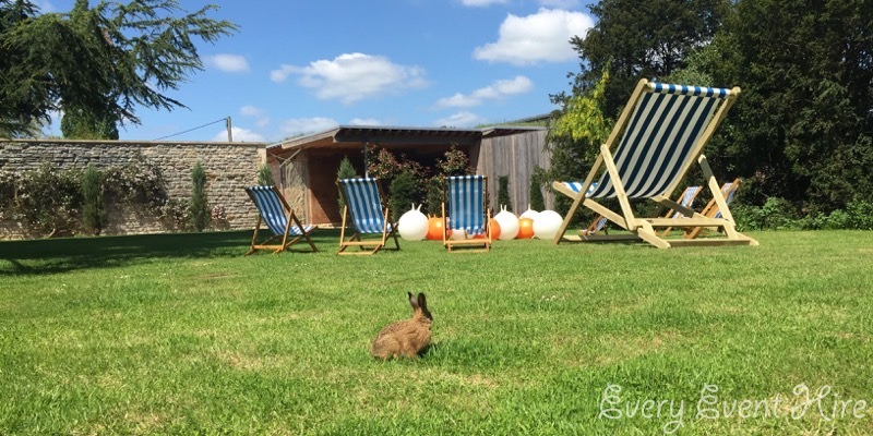 Deckchairs, Space Hoppers and Rabbit