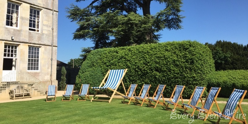 Elmore Court Wedding Deckchairs