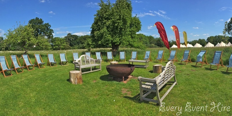 Wedding Deckchairs at Elmore Court