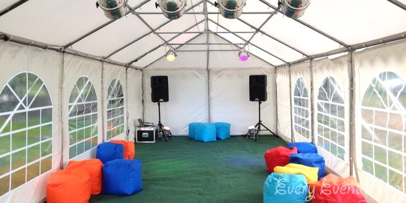12m x 4m Party Marquee with Sound and Lighting