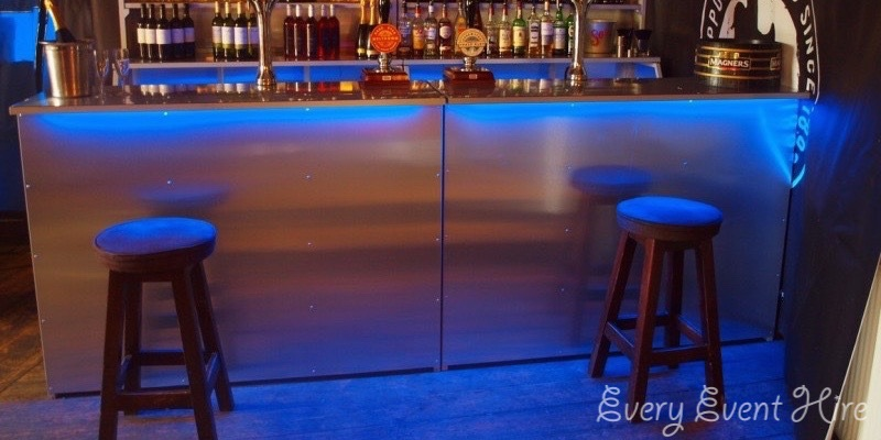 Bar with Blue Lighting