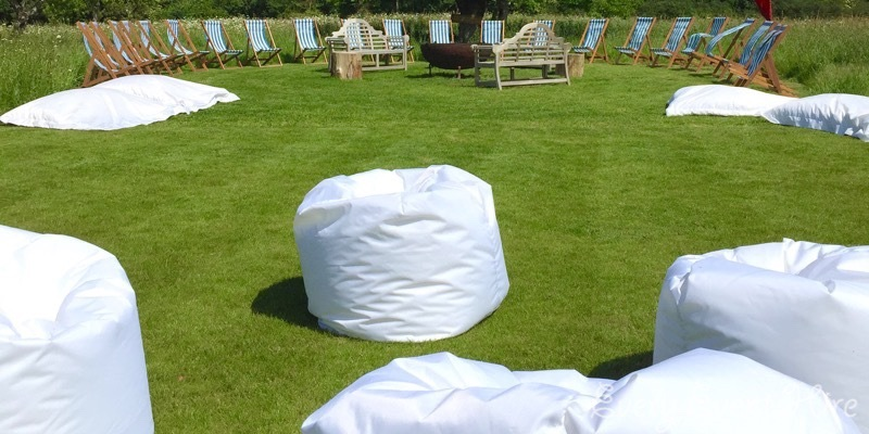 Wedding Bean Bags at Elmore Court