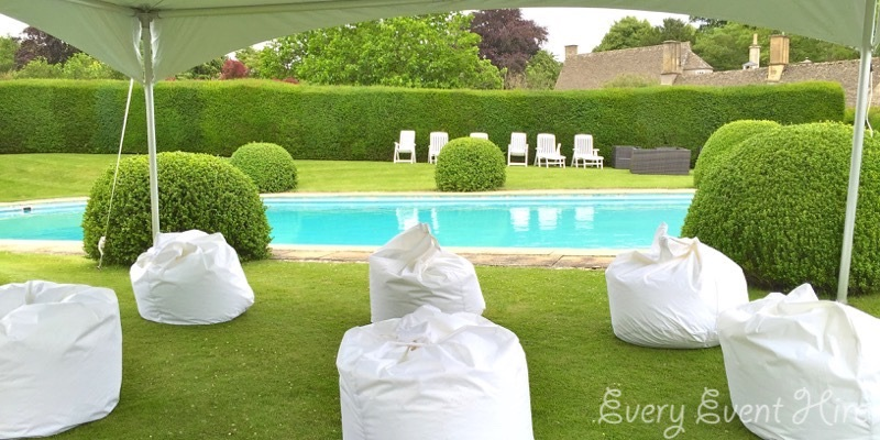 White Bean Bag Hire Gloucestershire