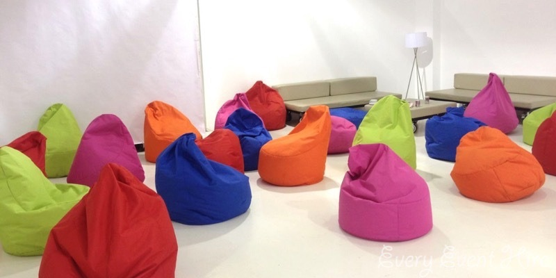 Mixed Coloured Bean Bag Hire Gloucestershire