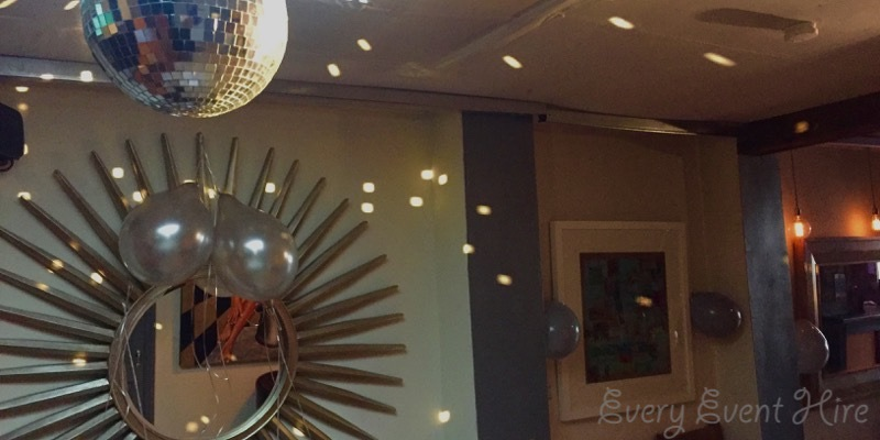 Mirror Ball Hire at Bar 50 Cheltenham