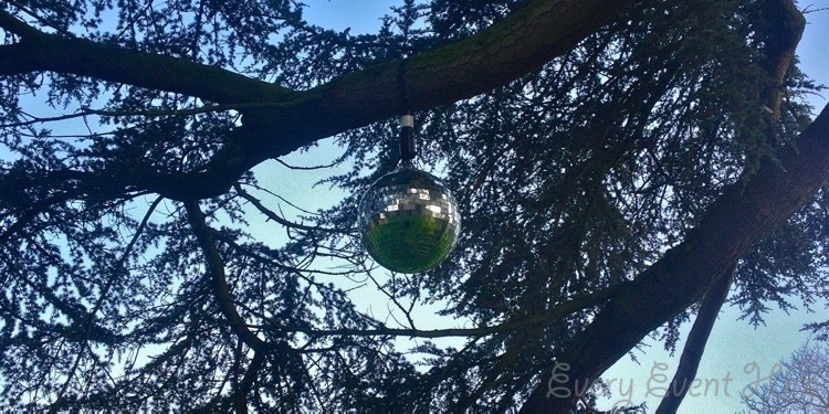 Outdoor Mirror Ball Hire in Gloucestershire