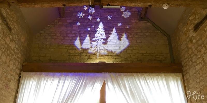 Christmas Image Projection at The Barn at Upcote