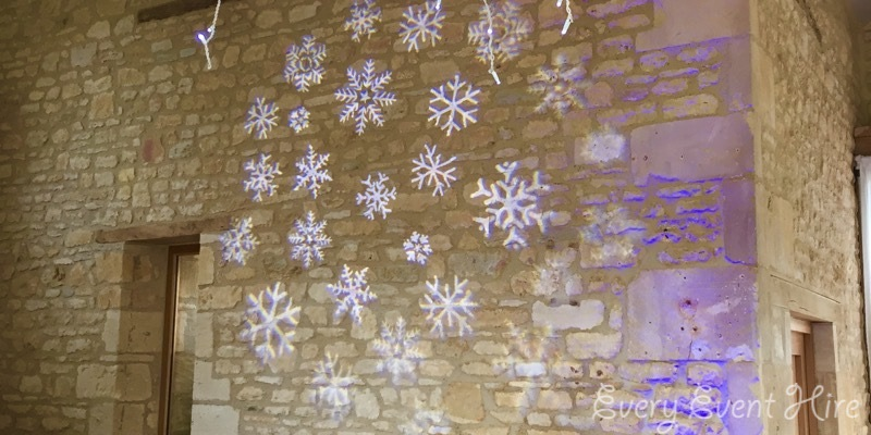 Snowflake Image Projection at The Barn at Upcote