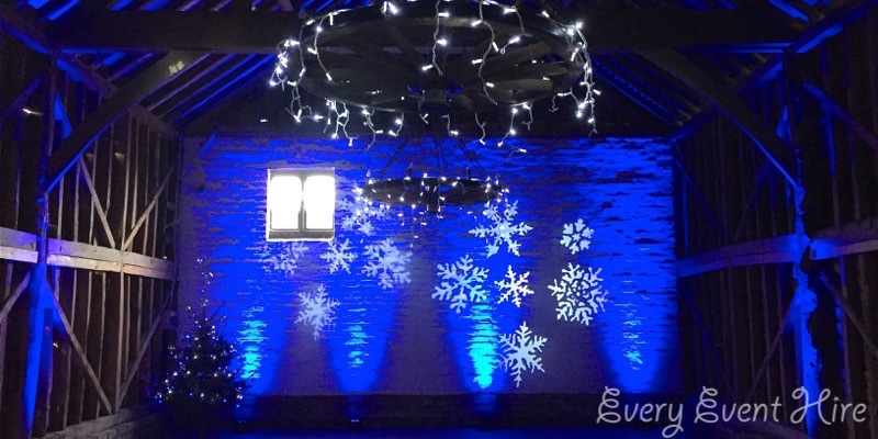 Christmas Snowflake Projection Hire